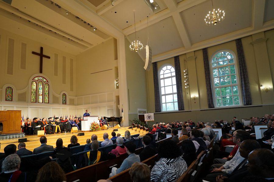 Sunquist speaking inauguration